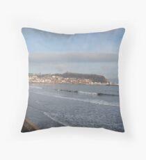 Scarborough Bay, East Yorkshire, England Throw Pillow