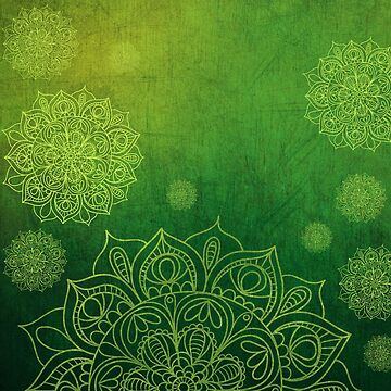 Green Mandala Grunge  by Zehda