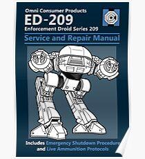ED-209 Service and Repair Manual Poster