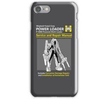 Power Loader Service and Repair Manual iPhone Case/Skin