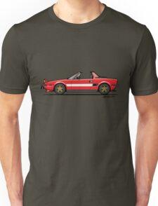 Fiat Bertone X1/9 Orange Stripes Unisex T-Shirt
