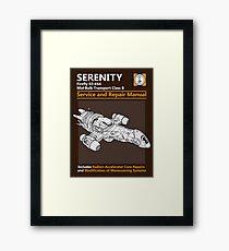 Shiny Service and Repair Manual Framed Print