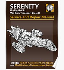 Shiny Service and Repair Manual Poster