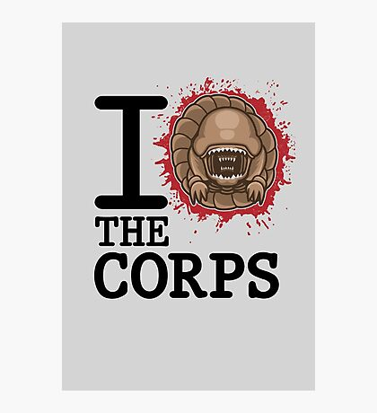 I Love The Corps Photographic Print