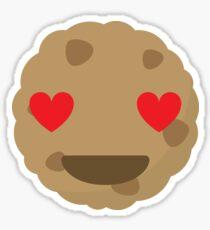 Cookie Emoji Heart and Love Eyes Sticker
