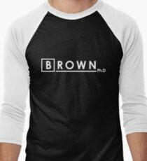 BROWN Ph.d Men's Baseball ¾ T-Shirt