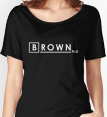 BROWN Ph.d Women's Relaxed Fit T-Shirt