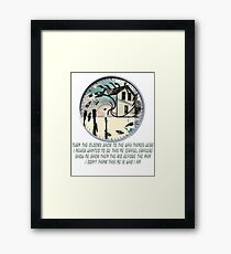Coheed and Cambria- Eraser lyrics Design Framed Print