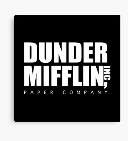Dunder Mifflin Canvas Print
