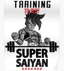 training super saiyan Poster
