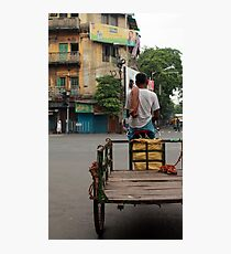 A crossing somewhere in Kolkata Photographic Print