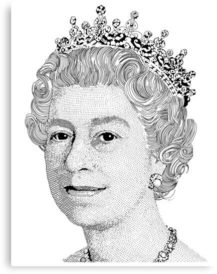 Queen Elizabeth Ii Canvas Prints By Richard Edwards Redbubble