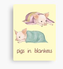 Pigs in Blankets Canvas Print