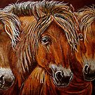 """""""Larry,Curlie and Moe"""" by Susan  Bergstrom"""