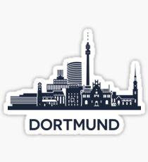 Dortmund Skyline Emblem Sticker