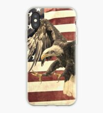 Vintage Eagle and Flag iPhone Case