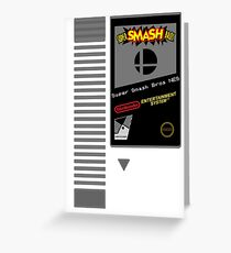 Nes Cartridge: Super Smash Bros Greeting Card