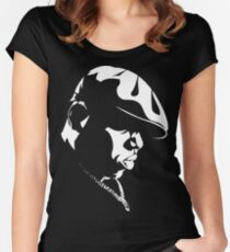 Biggie Stencil Women's Fitted Scoop T-Shirt