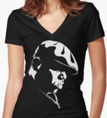 Biggie Stencil Women's Fitted V-Neck T-Shirt