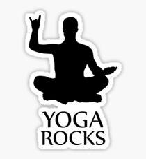 Yoga Rocks! Rocking Meditation Yoga-Asana Statement Shirt Tee Sticker