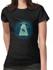 Beware UFO Womens Fitted T-Shirt
