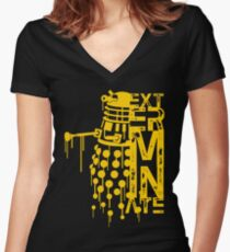 EXTERMINATE 2 Women's Fitted V-Neck T-Shirt
