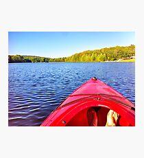 Canoeing Photographic Print