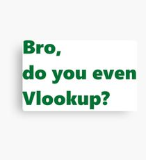 Bro, do you even Vlookup? Canvas Print