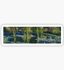 Edge of the lily pond Sticker