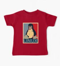 Tux Linux Hope Poster Parody Design for Free Software Geeks Kids Clothes