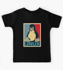 Tux Linux Hope Poster Parody Design for Free Software Geeks Kids Tee