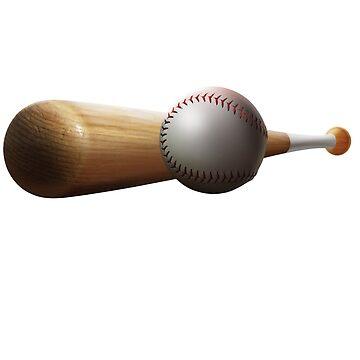Baseball Bat and Ball by Gotcha29