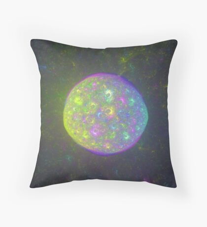 I also have another planet. #Fractal Art Throw Pillow