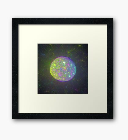 I also have another planet. #Fractal Art Framed Print
