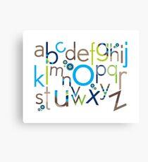TYPOGRAPHY :: trendy alphabet 6 Canvas Print