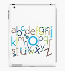 TYPOGRAPHY :: trendy alphabet 6 iPad Case/Skin