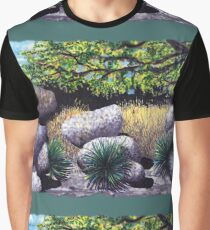 Tree and Boulders Graphic T-Shirt