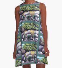 Tree and Boulders A-Line Dress