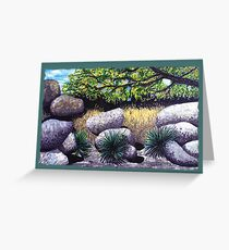 Tree and Boulders Greeting Card