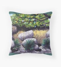 Tree and Boulders Throw Pillow