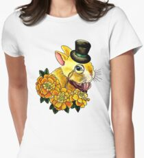 Top Hat Bunny Womens Fitted T-Shirt