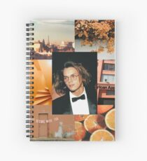 River Phoenix Orange Aesthetic  Spiral Notebook