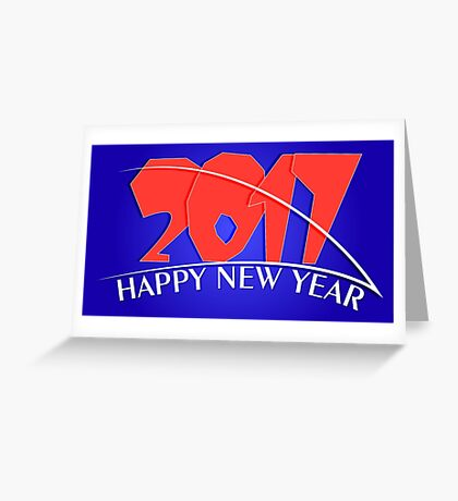 2017 new year creative design Greeting Card
