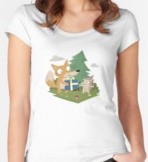 A Gift from a Fox Women's Fitted Scoop T-Shirt