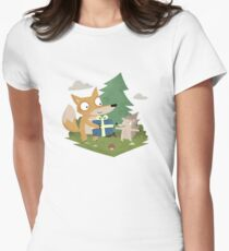 A Gift from a Fox Womens Fitted T-Shirt