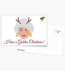 Goldene Mädchen - Dorothy Zbornak Weihnachtskarte Postkarten