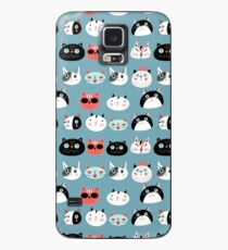 pattern amusing portraits of cats Case/Skin for Samsung Galaxy
