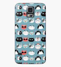 Funda/vinilo para Samsung Galaxy patrones divertidos retratos de gatos