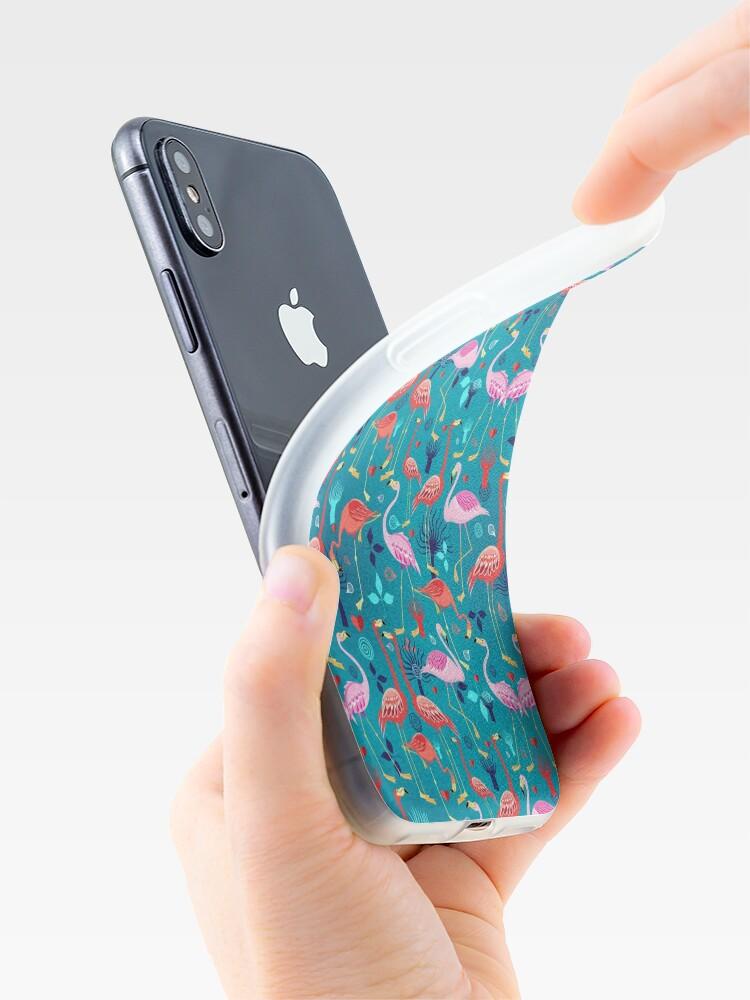 Alternative Ansicht von schöne Musterliebhaber Flamingo iPhone-Hülle & Cover