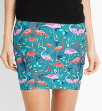 beautiful pattern lovers flamingo Mini Skirt
